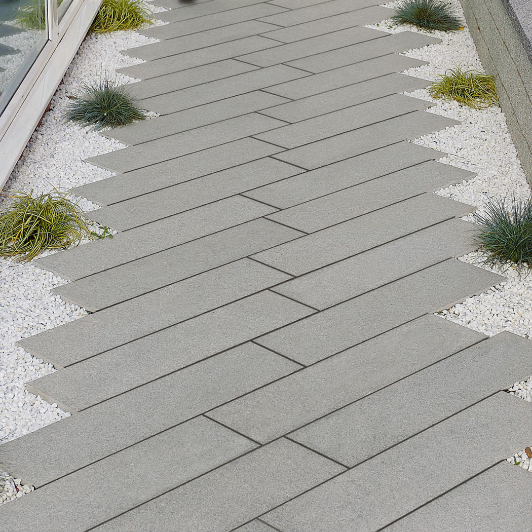 Mid Grey Granite Paving Flags Slabs pavers mixed size patio kits